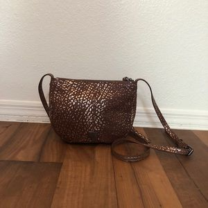 Kooba Monteverde Brown & Gold Mini Crossbody Bag